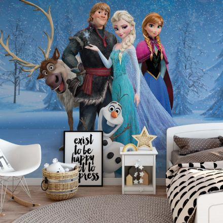 "Easy to apply Disney wallpaper ""Frozen"" characters"